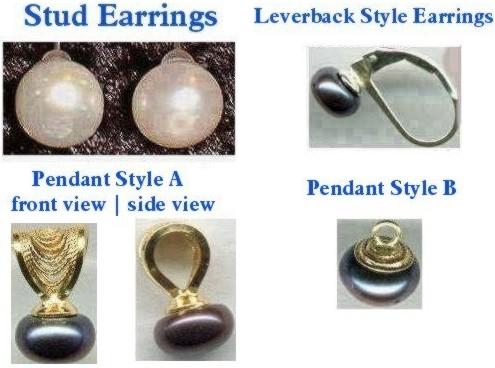 Stud Earrings, Sterling Silver, Leverback Style